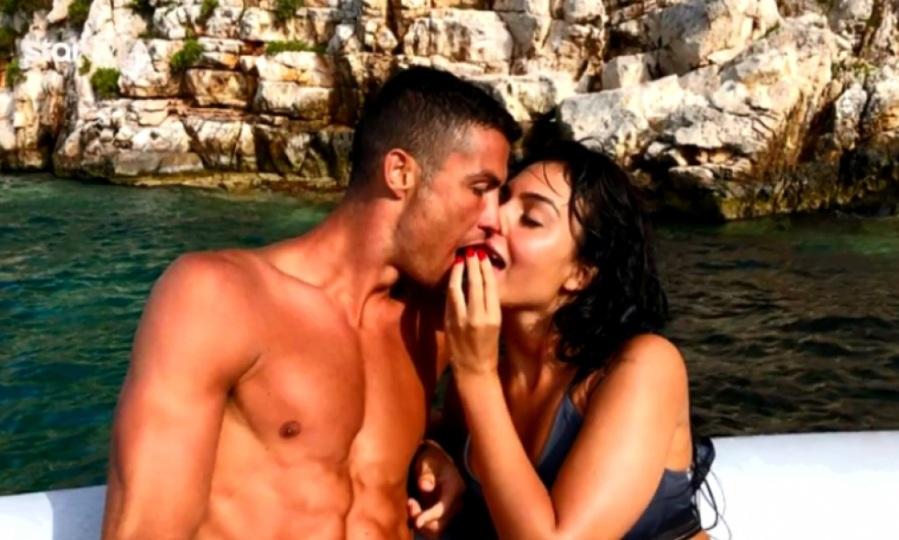 Καυτά φιλιά του Ρονάλντο με τη Τζορτζίνα στη Μεσσηνία! (video)