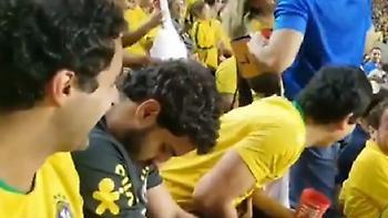 Οπαδός της Βραζιλίας... κοιμήθηκε την ώρα του αγώνα! (video)