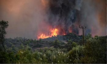 Κορινθία: Φωτιά στο Σοφικό από κεραυνό