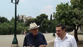 Βόλτα στο Ζάππειο πήγε ο Τσίπρας με τον Βασίλη Βασιλικό