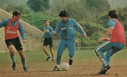 O Ντιέγκο Μαραντόνα τερματοφύλακας