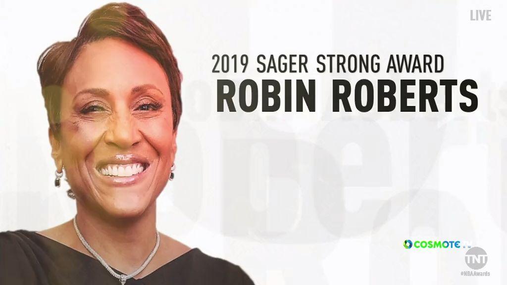 Στην Ρόμπιν Ρόμπερτς το «Sager Strong Award»
