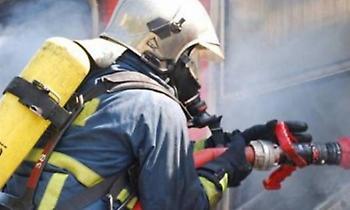 Θεσσαλονίκη: Φωτιά στο Σέιχ Σου από κεραυνό