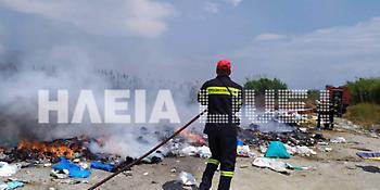 Ηλεία: Νέα φωτιά σε σκουπίδια κοντά σε λίμνη - Φωνάζουν οι πολίτες στη περιοχή
