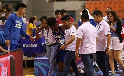 Σοβαρή ζημιά ο παίκτης των Φιλιππίνων