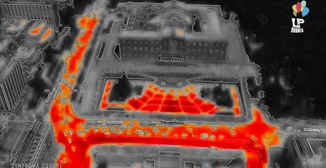 Εντυπωσιακό βίντεο με θερμική απεικόνιση της Αθήνας στον καύσωνα από drone