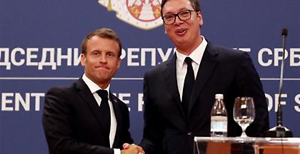 Σερβία: Ο Μακρόν ζήτησε συμβιβασμό στο ζήτημα του Κοσόβου