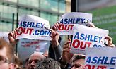 Διαμαρτυρίες φίλων της Νιουκάστλ κατά του ιδιοκτήτη Μάικ Άσλεϊ