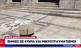 Ζημιές σε κτίρια και μικροτραυματισμοί μετά τον σεισμό (video)