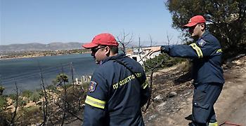 Μεγάλη κινητοποίηση της Πυροσβεστικής για φωτιά στην Μαραθώνος