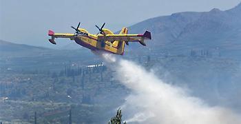 Καλύτερη εικόνα της φωτιάς στην Κεφαλονιά, δεν απειλούνται πια σπίτια