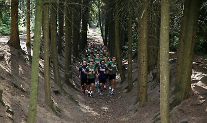 Τρέξιμο στο δάσος για τους παίκτες του Παναθηναϊκού (pics)