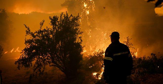 Το σχέδιο νυχτερινής δράσης της πυροσβεστικής για την φωτιά στην Εύβοια