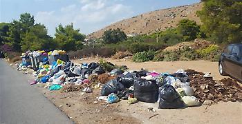 «Βούλιαξε» στα σκουπίδια το Θυμάρι Αναβύσσου (pics)
