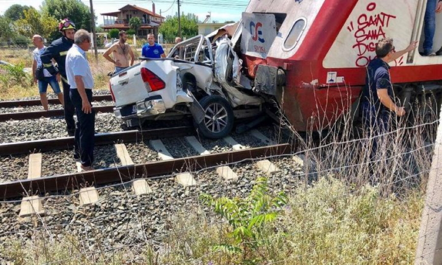 Θεσσαλονίκη: Τραγωδία με νεκρή έγκυο γυναίκα μετά από σύγκρουση τρένου με ΙΧ