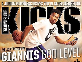 O Γιάννης στο εξώφυλλο του «Slam Kicks» ως Θεός (pic)