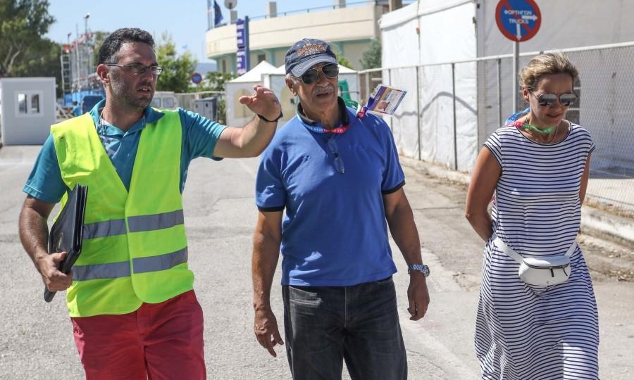 Απόλυτα ικανοποιημένος από τις εγκαταστάσεις των Μεσογειακών έμεινε o πρόεδρος της ΔΕΜΑ