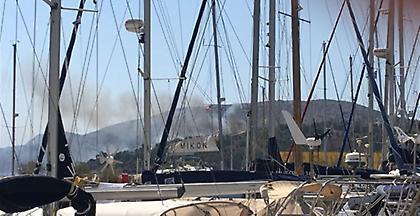 Φωτιά στην Λέρο, κινητοποίηση της Πυροσβεστικής από Αττική και Σάμο