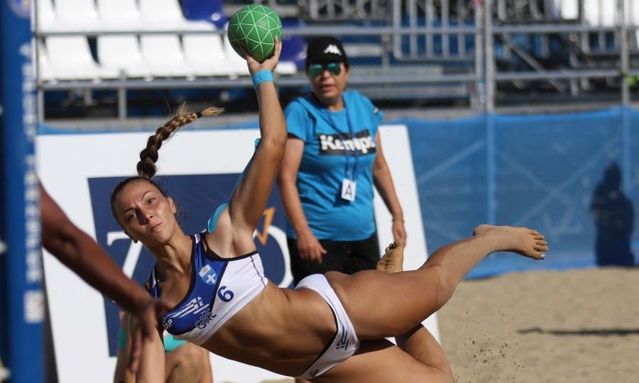Beach Handball: Επίδειξη δύναμης από Ελλάδα και Κροατία