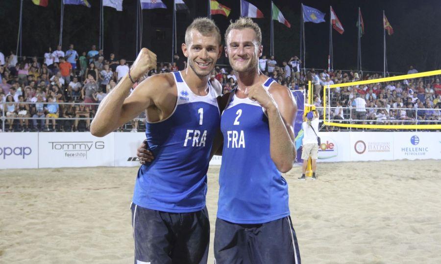 Βeach Volleyball Aνδρών: ''Allez les Bleus'' εις διπλούν