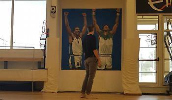 Γκάλης και Γιαννάκης έγιναν γκράφιτι στο Eurohoops Dome! (pic)