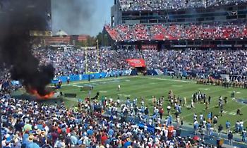 Πανικός σε αγώνα NFL λόγω φωτιάς σε ηχείο (video)