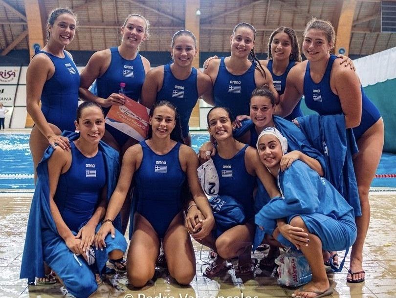 Τέταρτη στην Ευρώπη η Εθνική πόλο Νέων γυναικών