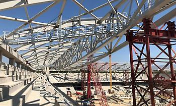 Προχωράει φουλ η κατασκευή του στεγάστρου στην «Αγια-Σοφιά» (pics)