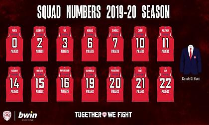 Οι αριθμοί στις φανέλες των παικτών του Ολυμπιακού (pic)