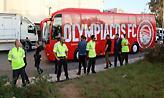 Χωρίς προβλήματα έφτασε στο ΟΑΚΑ ο Ολυμπιακός