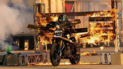 Ο… φλεγόμενος αναβάτης στο 15ο Motor Festival του ΟΑΚΑ