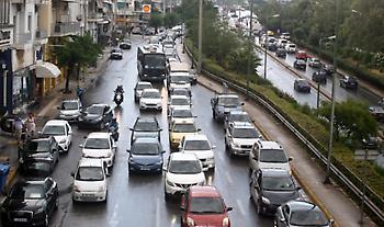 Κυκλοφοριακό χάος στην Αθήνα λόγω απεργίας