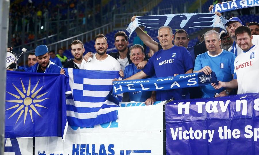 Η ελληνική εξέδρα στο «Ολίμπικο» (pics)