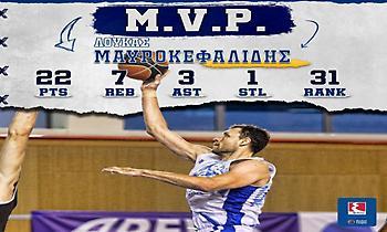 MVP της 3ης αγωνιστικής ο Μαυροκεφαλίδης