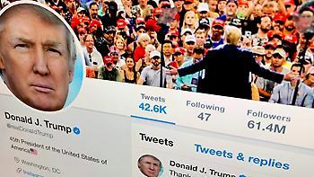 To Τwitter εξηγεί γιατί δεν έχει διαγράψει τον λογαριασμό του Τραμπ