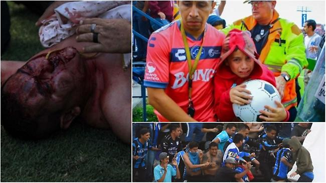 Απίστευτο ξύλο  με δεκάδες τραυματίες σε αγώνα στο Μεξικό (video)
