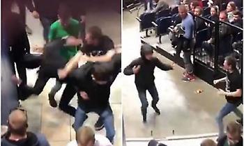 Γροθιές μεταξύ οπαδών και μία σύλληψη στο ντέρμπι Ρίτας Βίλνιους-Ζαλγκίρις! (video)
