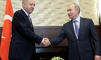 Σε εξέλιξη η συνάντηση Πούτιν-Ερντογάν στο Σότσι