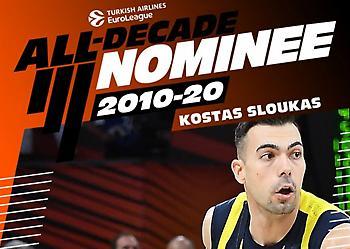 Υποψήφιος για την ομάδα της δεκαετίας στην Ευρωλίγκα ο Σλούκας (video)