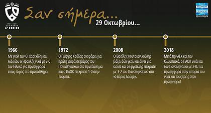 60 χρόνια Α' Εθνική: Σαν σήμερα, 29 Οκτωβρίου