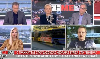 Γραμματέας Σπουδάζουσας Νεολαίας ΣΥΡΙΖΑ: «Συμβολικός ακτιβισμός το πανό στο τρόλεϊ»