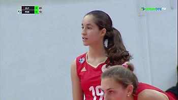 Ευρωπαϊκό ντεμπούτο με Ολυμπιακό για την 14χρονη Φουμάκη (video)