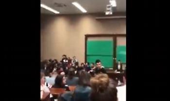 Ξύλο μεταξύ φοιτητών σε Γενική Συνέλευση στην ΑΣΟΕΕ (video)