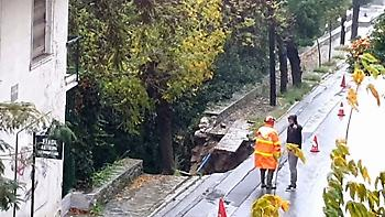 Δραματική η κατάσταση στη Θάσο λόγω της συνεχιζόμενης βροχόπτωσης (vids)