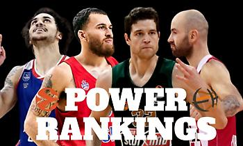 EuroLeague Power Rankings by Eurohoops: Vol. 3: Αντεπίθεση Παναθηναϊκού, άνοδος Ολυμπιακού