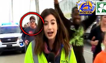 Μαραθωνοδρόμος χούφτωσε ρεπόρτερ και τιμωρήθηκε με δια βίου αποκλεισμό (video)