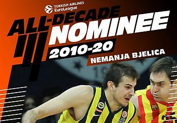 Υποψήφιος για την ομάδα της δεκαετίας στην Ευρωλίγκα ο Μπιέλιτσα