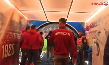 Η άφιξη του Ολυμπιακού στο «Γ. Καραϊσκάκης» για το ματς με τον Ερυθρό Αστέρα (video)
