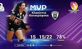 Πολυτιμότερη στη Volley League η Κατσoρόφσκα