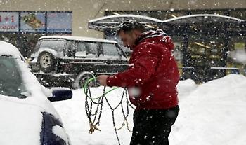Διακοπή της κυκλοφορίας σε τμήματα του οδικού δικτύου των Ν. Χαλκιδικής και Ημαθίας